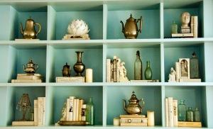 bookshelves coco rocha in vogue