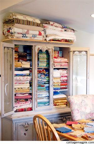 China cabinets can make great linen closets too. Here are two pictures that I love one showing quilt storage the other a china cabinet with the doors ... & How many different ways can you use a piece?