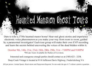 haunted mansion tours