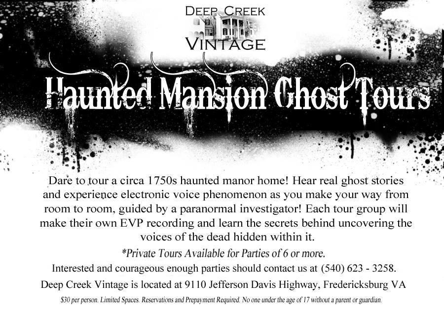 ghost tours revised